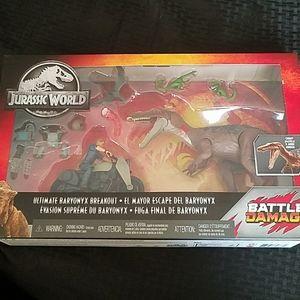 NEW Ultimate Baryonyx Breakout Jurassic World Set
